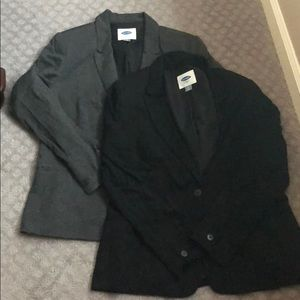 New! 2 Old Navy Blazers in Black and Charcoal Grey